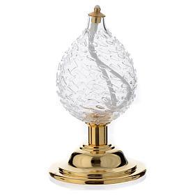 Lume goccia cristallo soffiato effetto bugnato s1