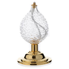 Liquid wax altar lamp in blown crystal s1