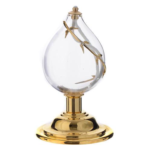 Lampka kropla kryształ dmuchany dekoracje pozłacane 1