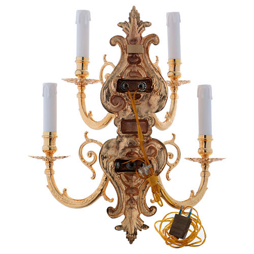 Applique baroque en laiton moulé à 5 bras 6