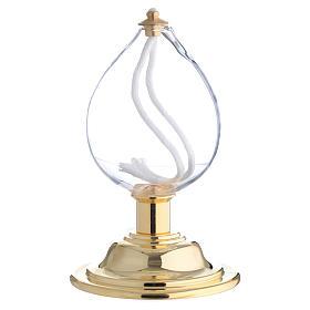Lámpara gota cera líquida latón s1