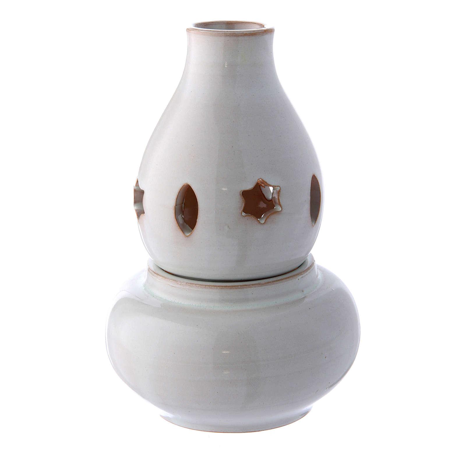 Ceramic lamp white colour amphora 3