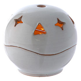 Lampada bianca ceramica sfera s1