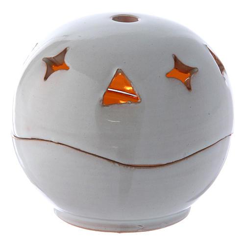 Lampada bianca ceramica sfera 1