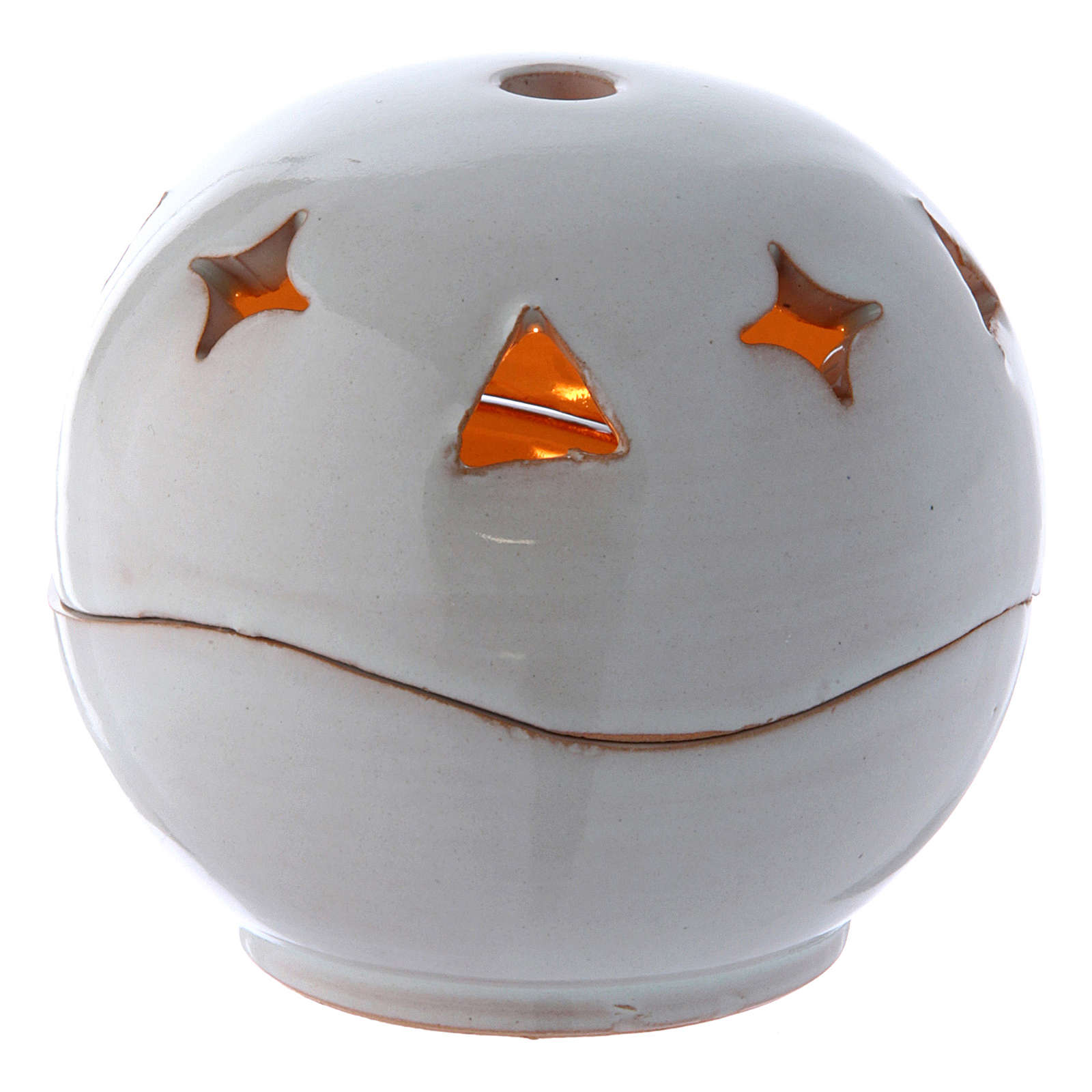 Ceramic lamp white colour sphere 3