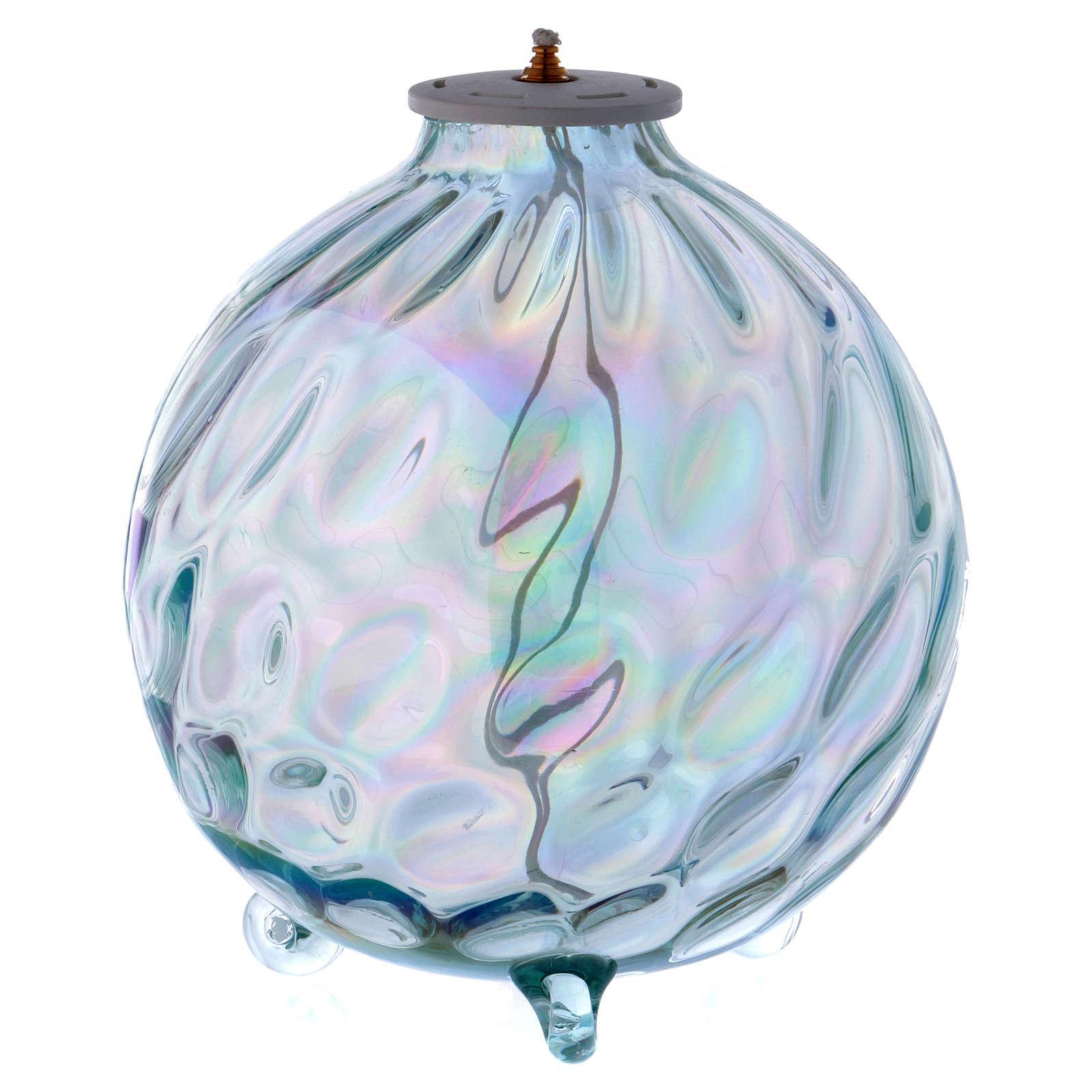 Lámpara esférica parafina vidrio texturado 3