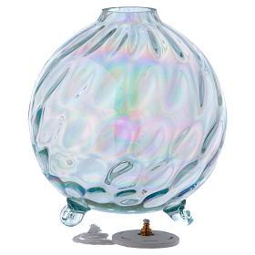 Lámpara esférica parafina vidrio texturado s2