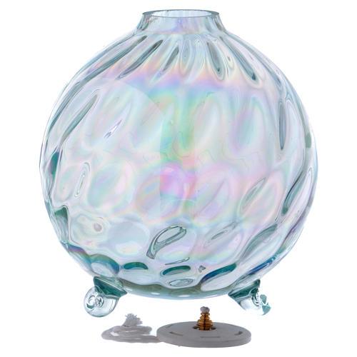 Lámpara esférica parafina vidrio texturado 2