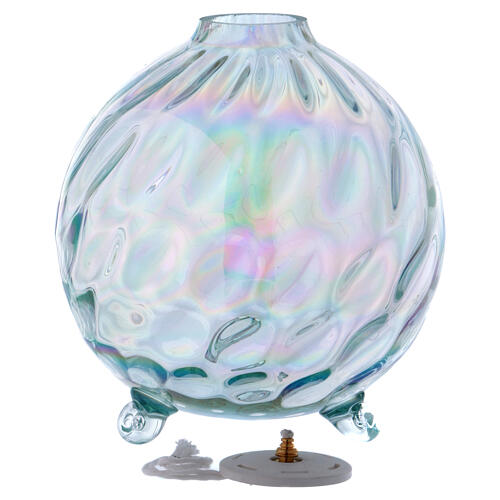 Spherical cristal lamp for liquid wax 2