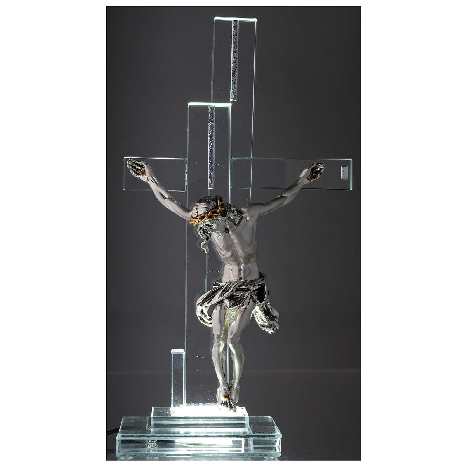 Lampe avec crucifix cristal 35 cm 3