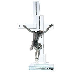 Lampe avec crucifix cristal 35 cm s5