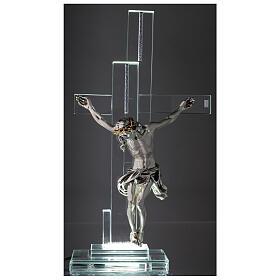 Lampada con crocefisso cristallo 35 cm s2