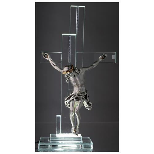 Lampada con crocefisso cristallo 35 cm 2