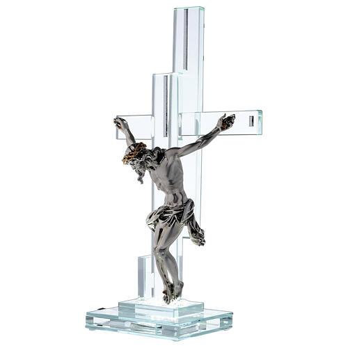Lampada con crocefisso cristallo 35 cm 3