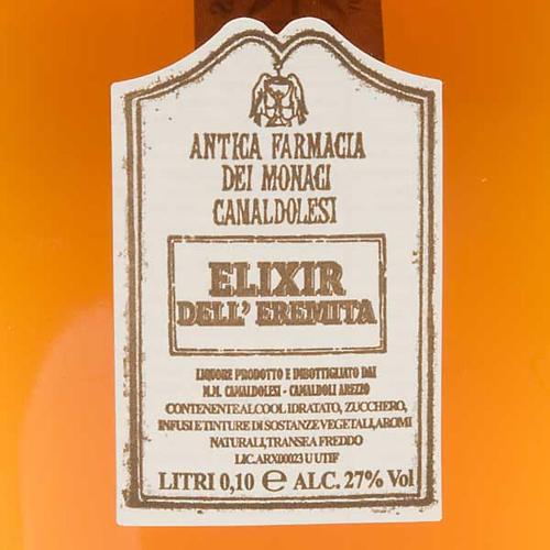 Elixir de l'ermite petite bouteille, 100 ml. Camaldoli 2