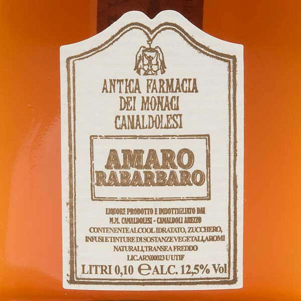 Amaro Rabarbaro Mignon 100 ml. Camaldoli 3