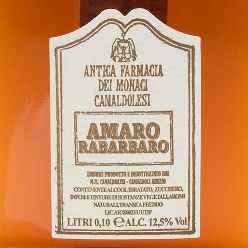 Amaro Rabarbaro Mignon 100 ml. Camaldoli 2