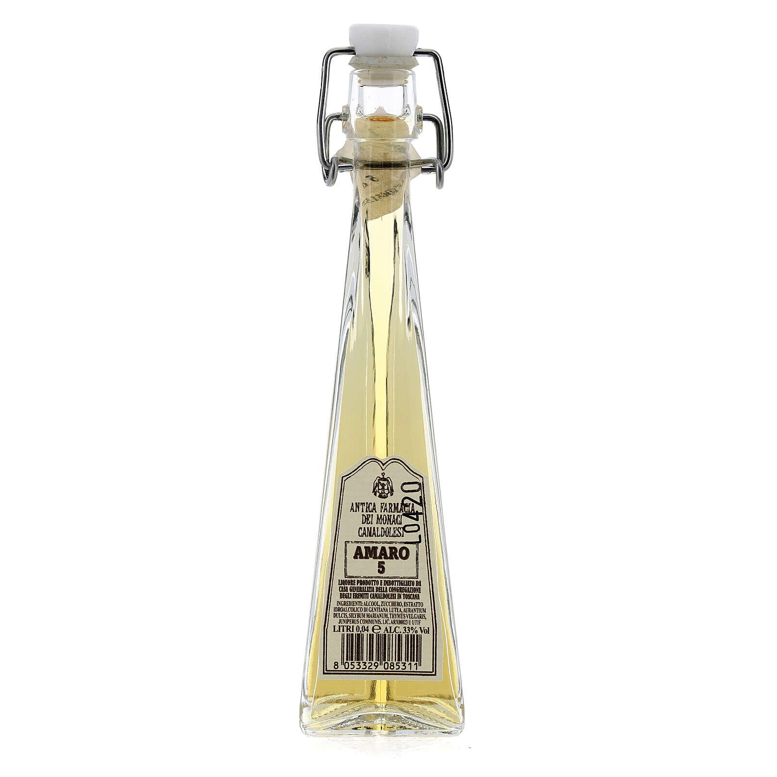 Liquore digestivo Amaro 5 Camaldoli 40 ml 3