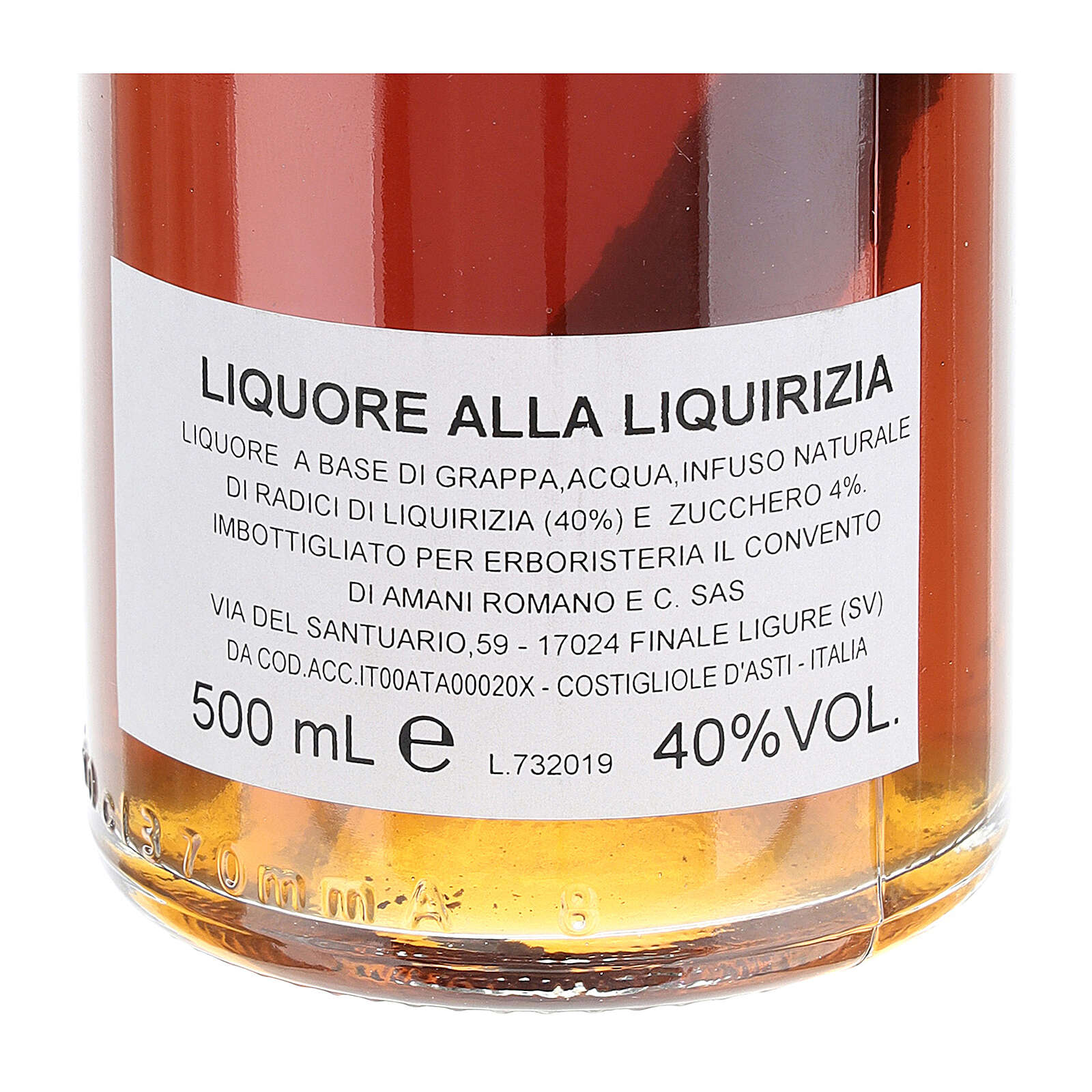 Grappa de Alcaçuz 500 ml 3