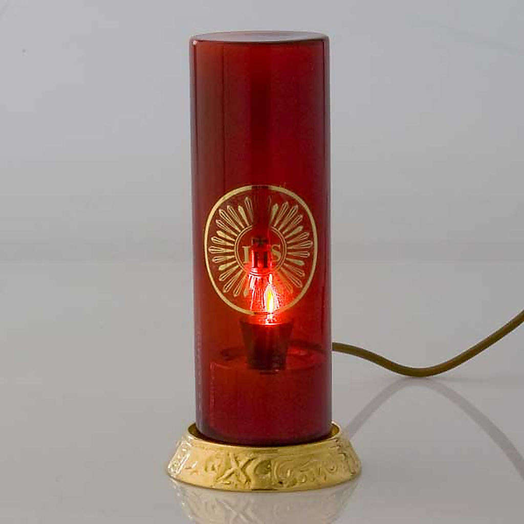 Vigil light electric lamp golden plated brass 3