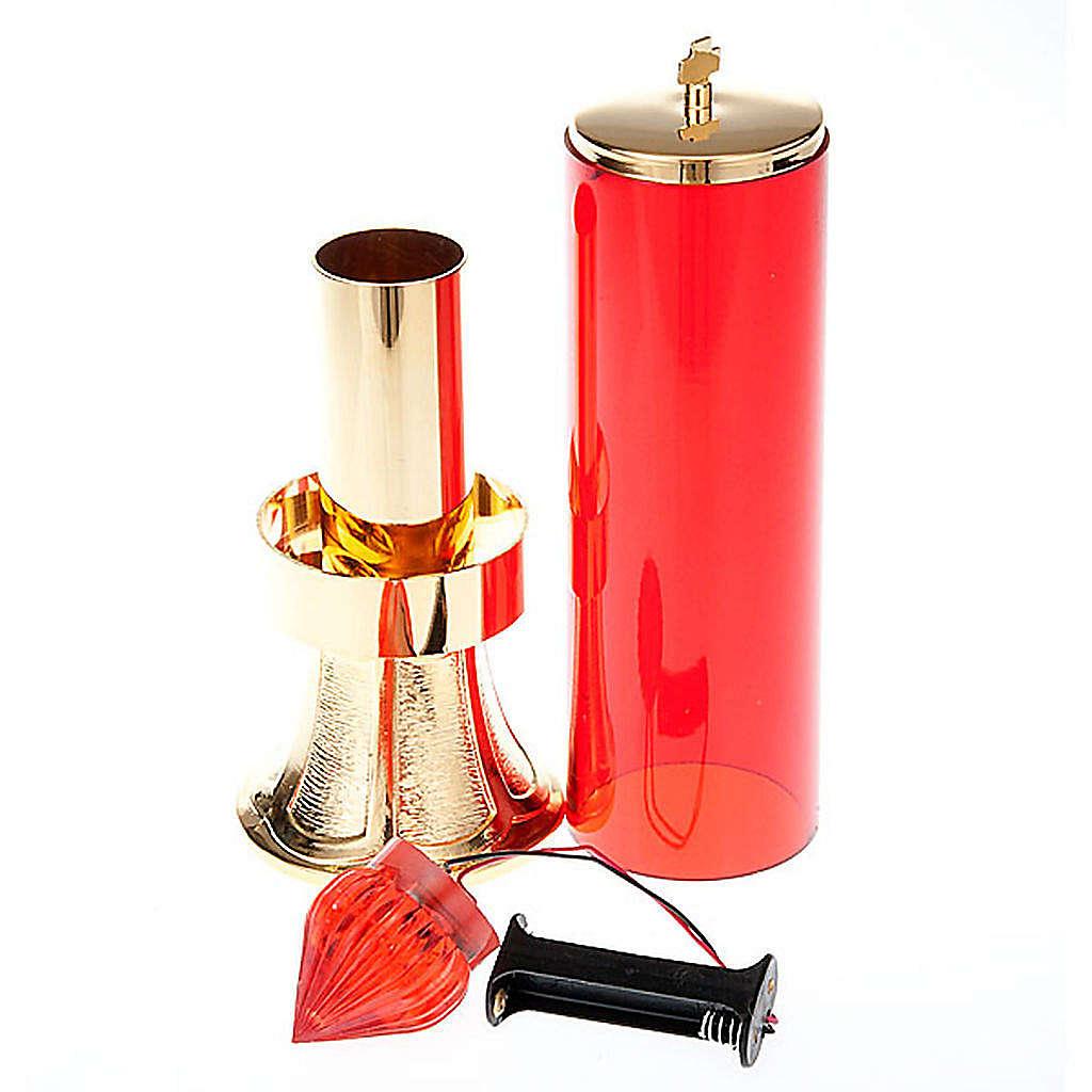 Lámpara Santísimo de latón dorado con bater 3