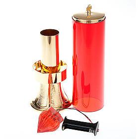 Lámpara Santísimo de latón dorado con bater s3