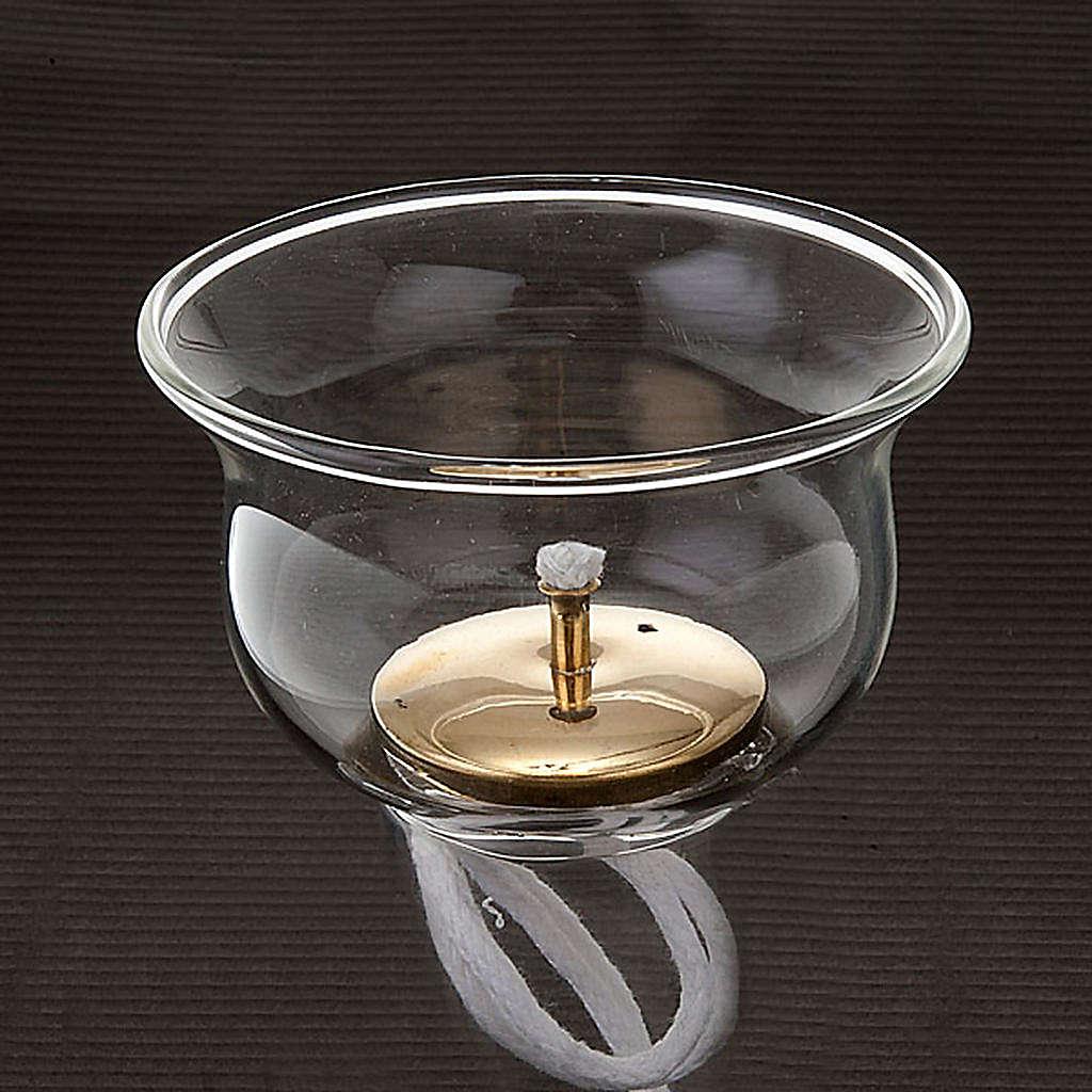 Vaso de vidrio con gigler y mecha 3