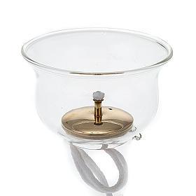 Lámparas y cirios para el Santísimo: Vaso de vidrio con gigler y mecha