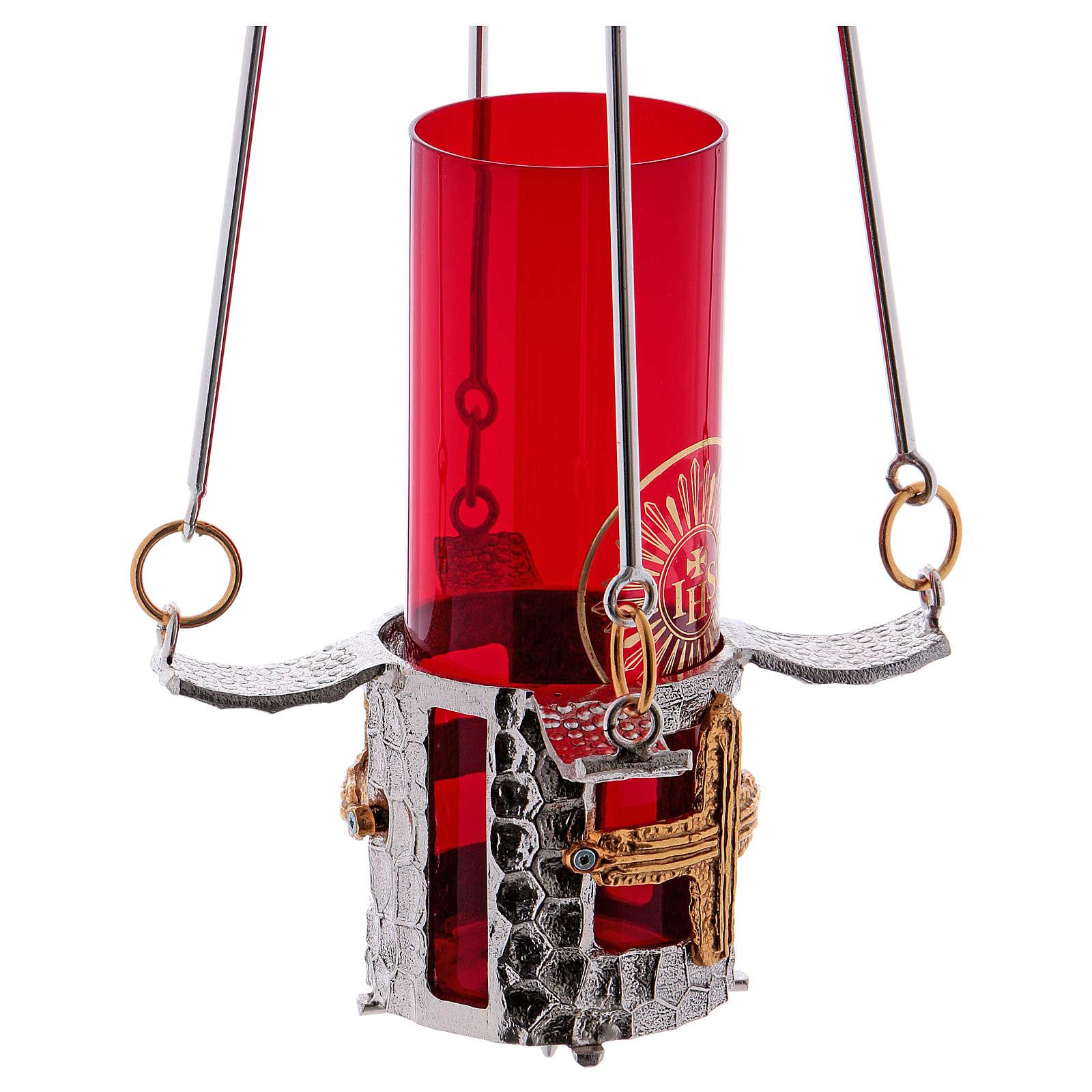 Lampe Allerheiligsten um zu haengen Bronze H. 75 Zentimeter 3