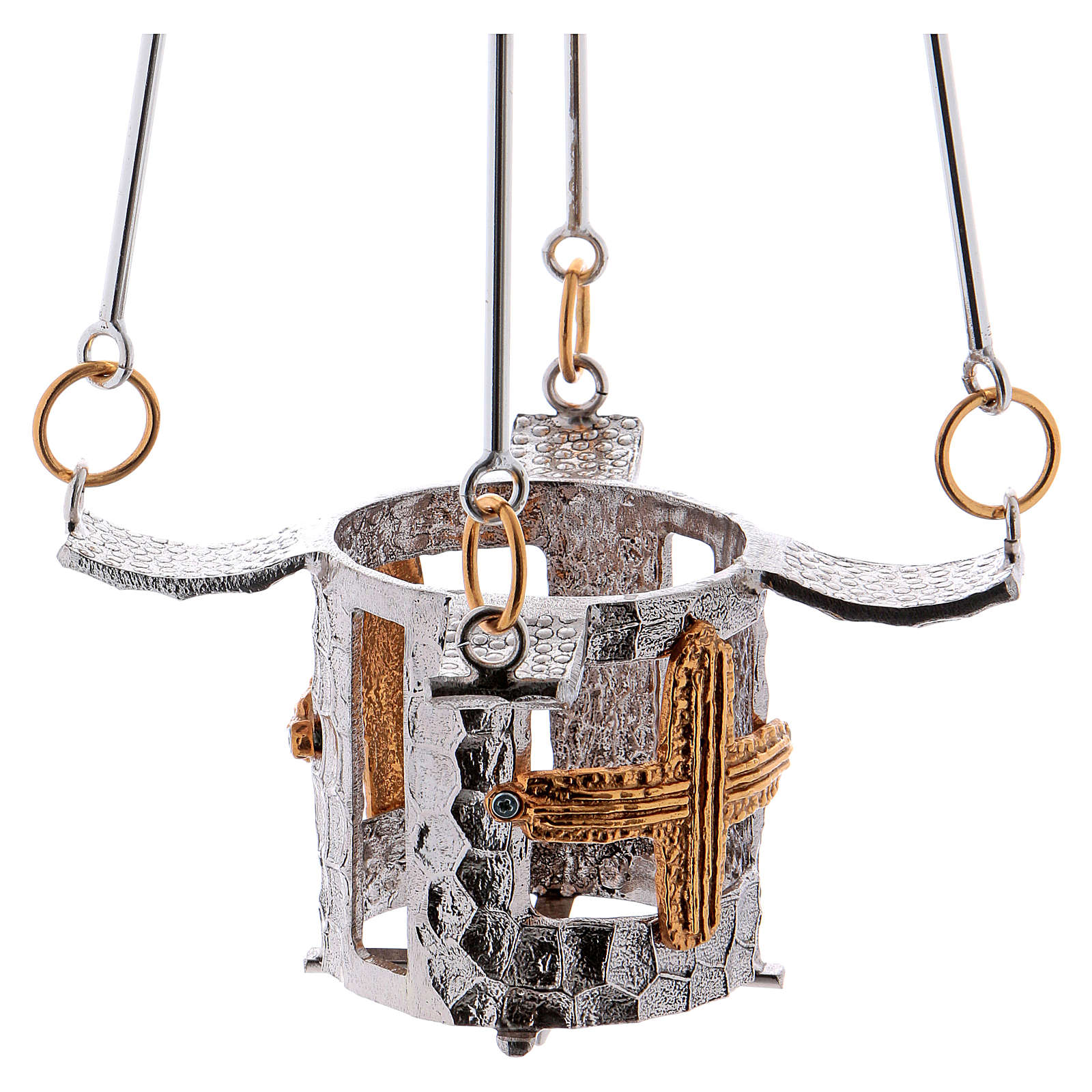 Vigil light lamp to hang 75 cm high bronze 3