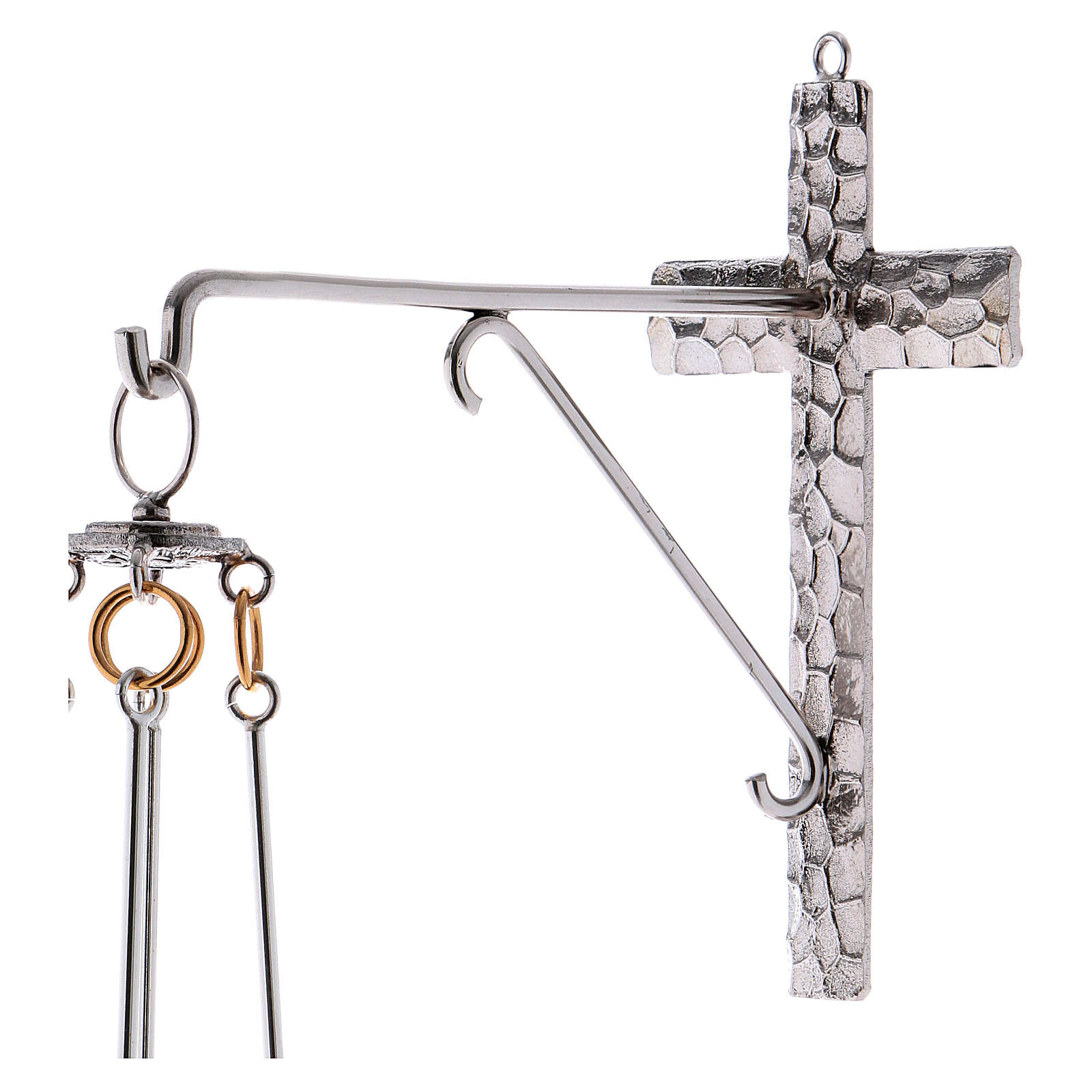 Lámpara para el Santísimo de colgar bronce 75cm al 3
