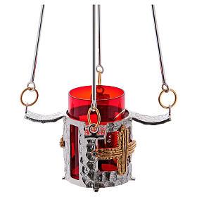 Lámpara para el Santísimo de colgar bronce 75cm al s5