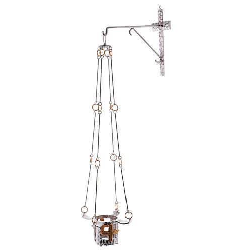 Lámpara para el Santísimo de colgar bronce 75cm al 1