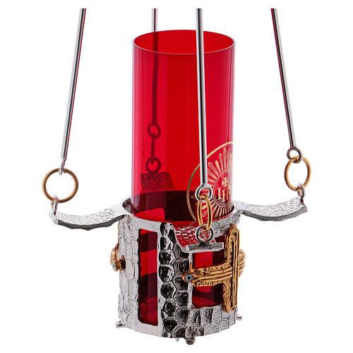Lampe de sanctuaire bronze à suspendre h. 75 cm 6