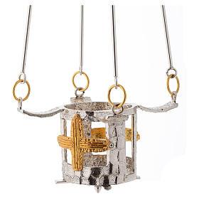 Lampada per Santissimo da appendere bronzo h. 75 cm s1