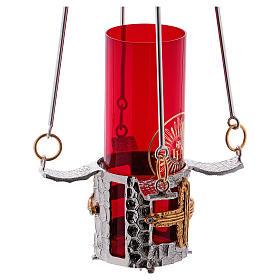 Lampada per Santissimo da appendere bronzo h. 75 cm s6