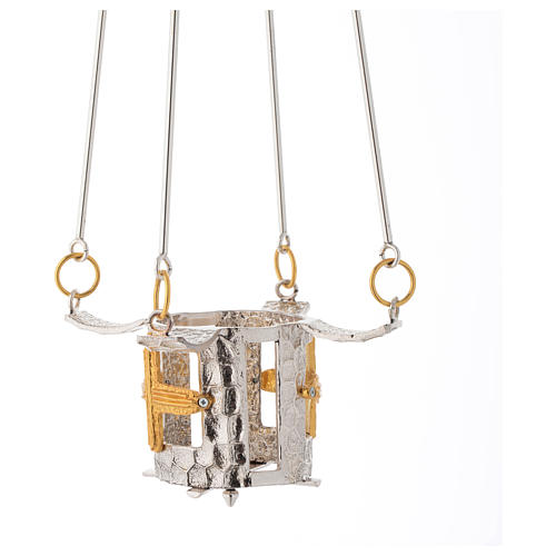 Lampada per Santissimo da appendere bronzo h. 75 cm 2