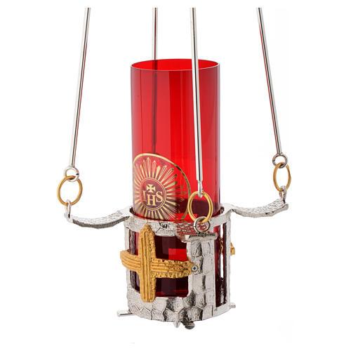 Lampada per Santissimo da appendere bronzo h. 75 cm 3