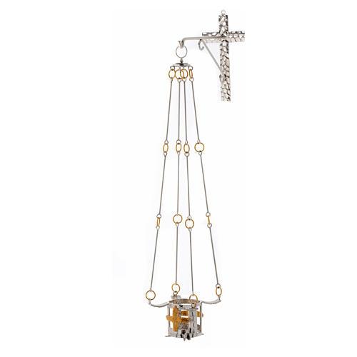 Lampada per Santissimo da appendere bronzo h. 75 cm 6