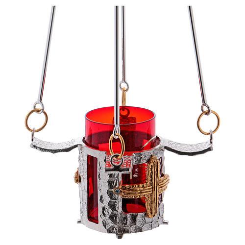 Vigil light lamp to hang 75 cm high bronze 5