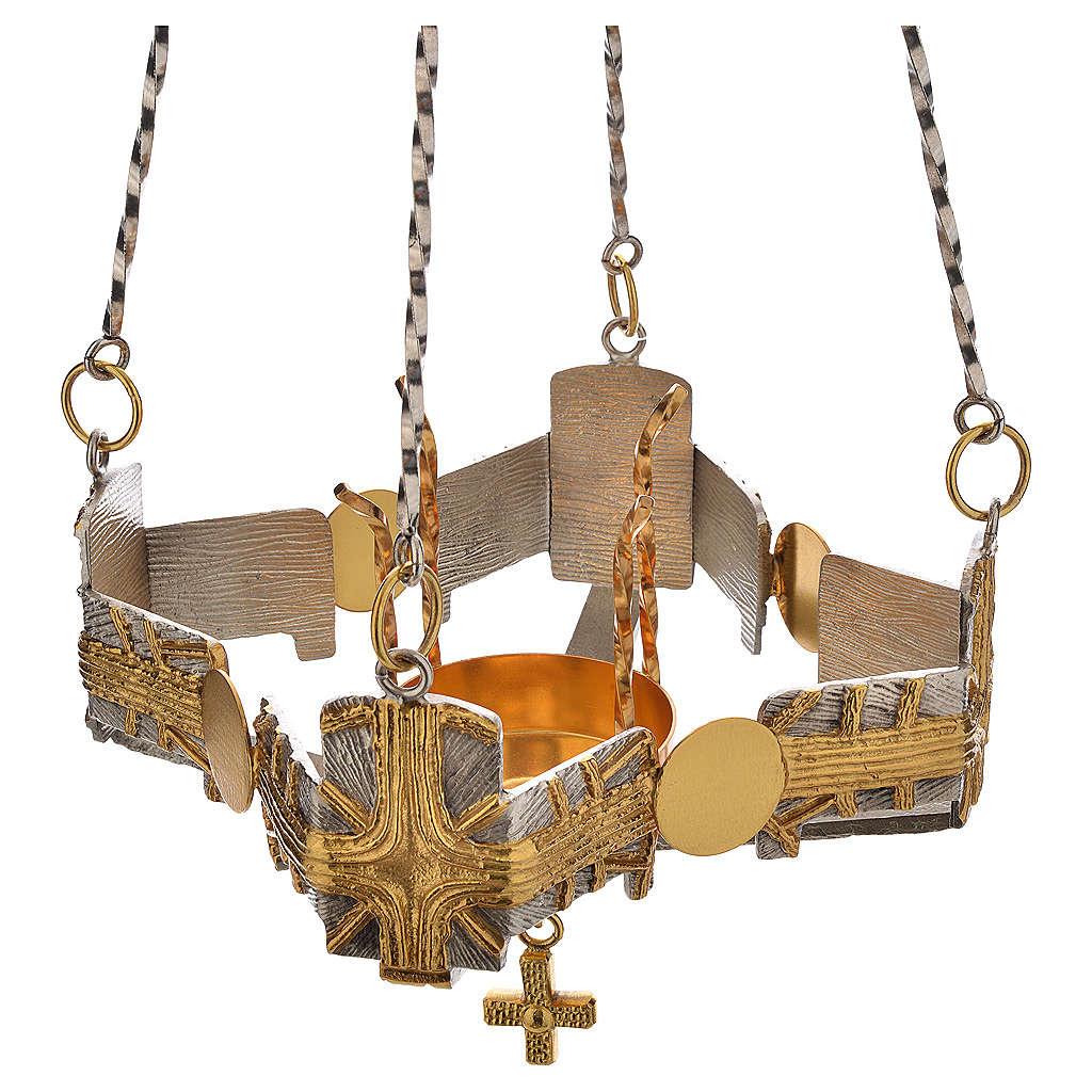 Lampada per Santissimo da appendere h.80 cm 3