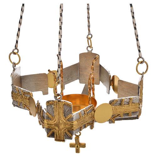 Lampada per Santissimo da appendere h.80 cm 2