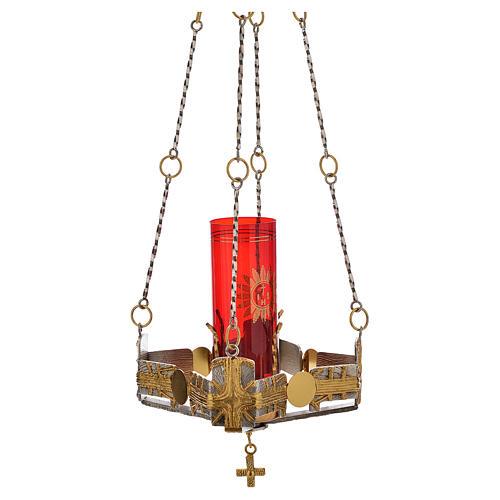 Lampada per Santissimo da appendere h.80 cm 6