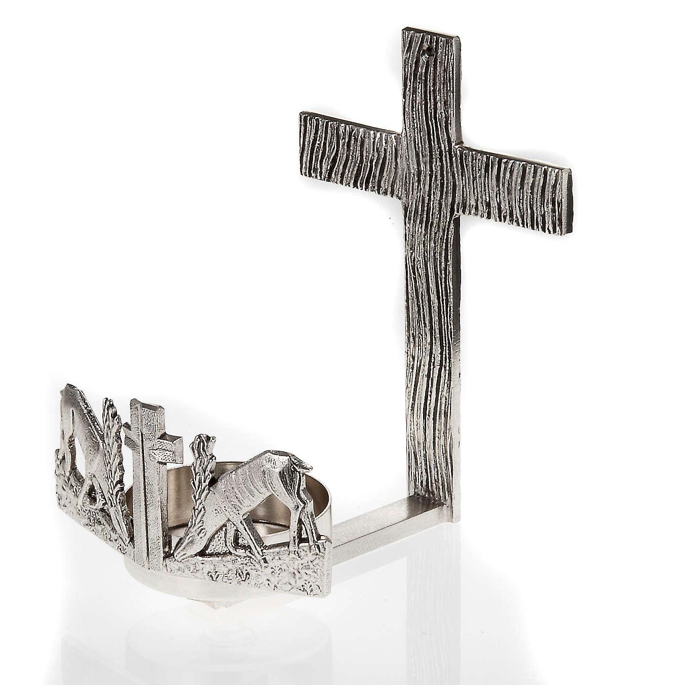 Lampada per Santissimo da muro cervi alla fonte 3