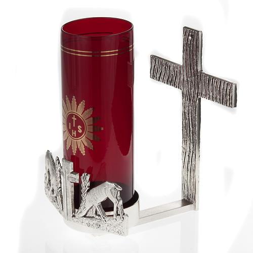 Lampada per Santissimo da muro cervi alla fonte 4
