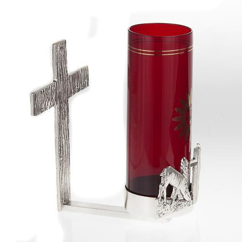 Lampada per Santissimo da muro cervi alla fonte 5