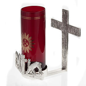 Blessed Sacrament wall lamp with deer at the spring s4