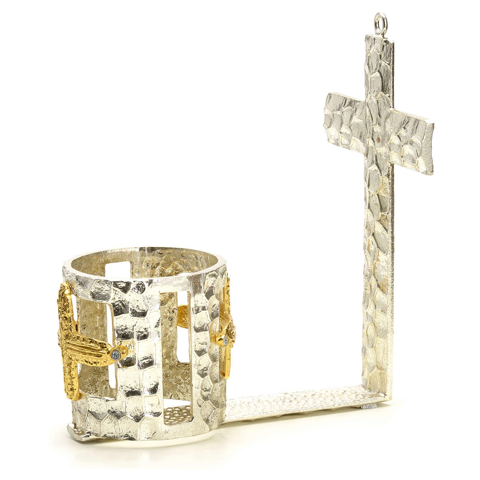 Lampada per Santissimo da muro croce bicchiere 3