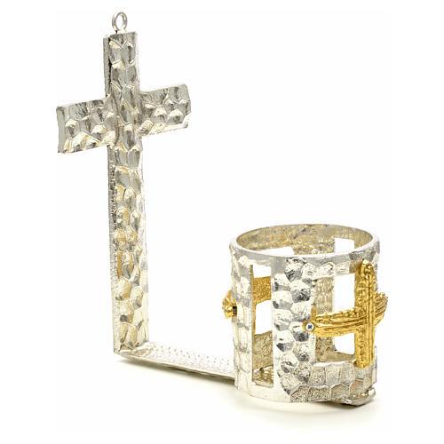 Lampada per Santissimo da muro croce bicchiere 2
