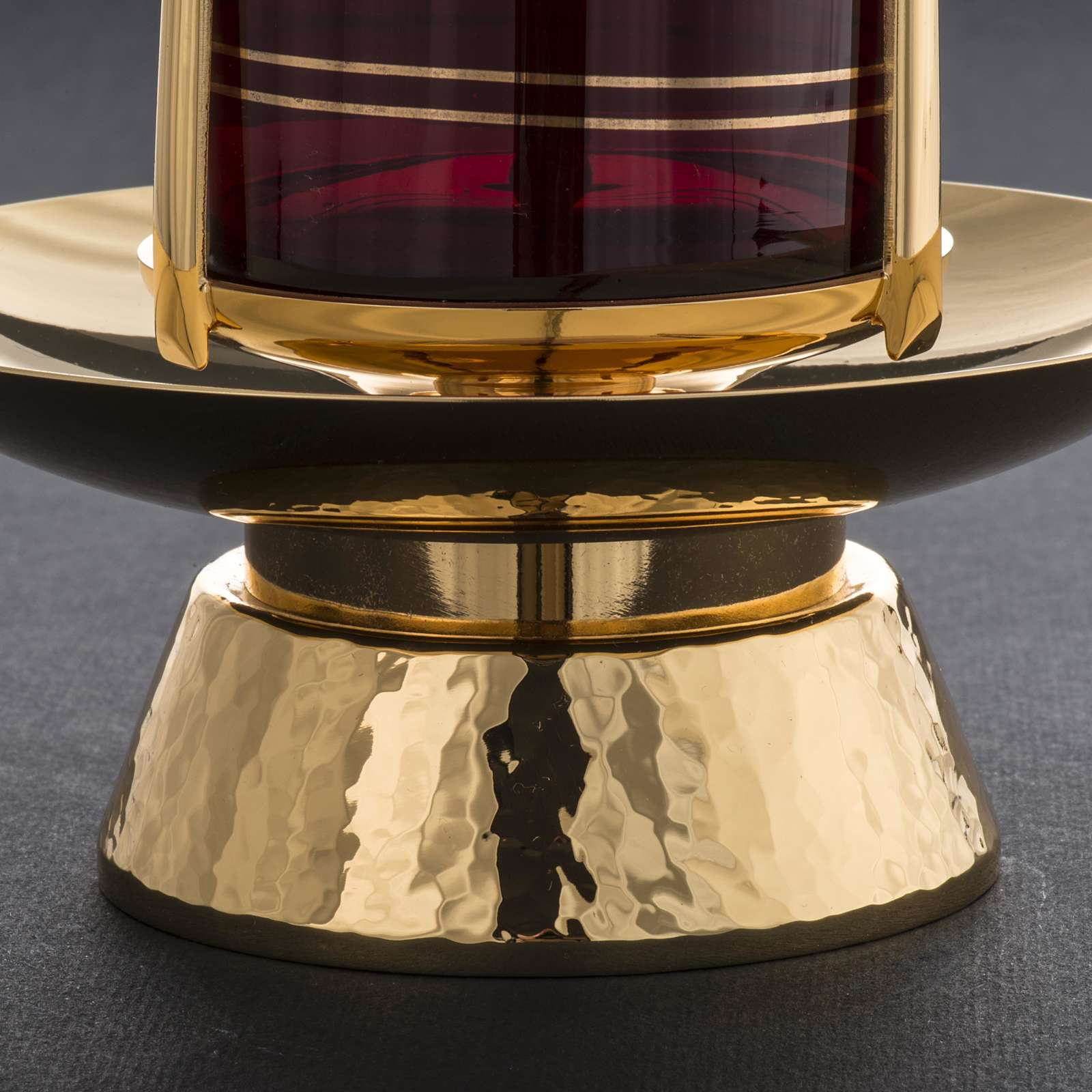 Foot for Blessed Sacrament glass, gold-plated brass 3